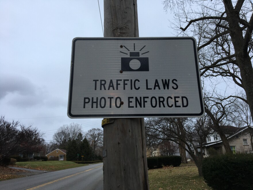 A sign posted at the city limits in Lancaster in southeastern central Ohio.