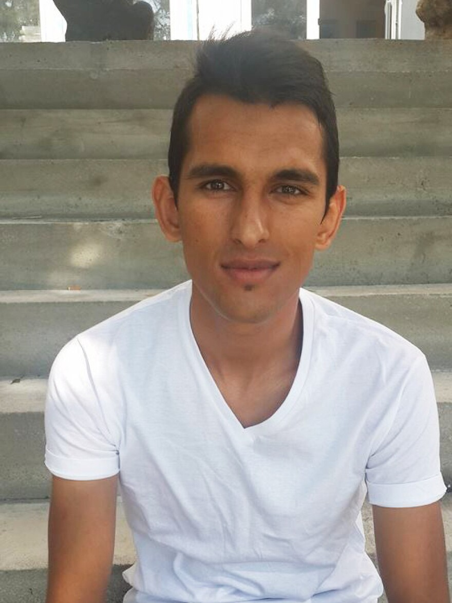Kashif Kazmi, a 21-year-old asylum-seeker from Pakistan, has begun studying for a business degree.