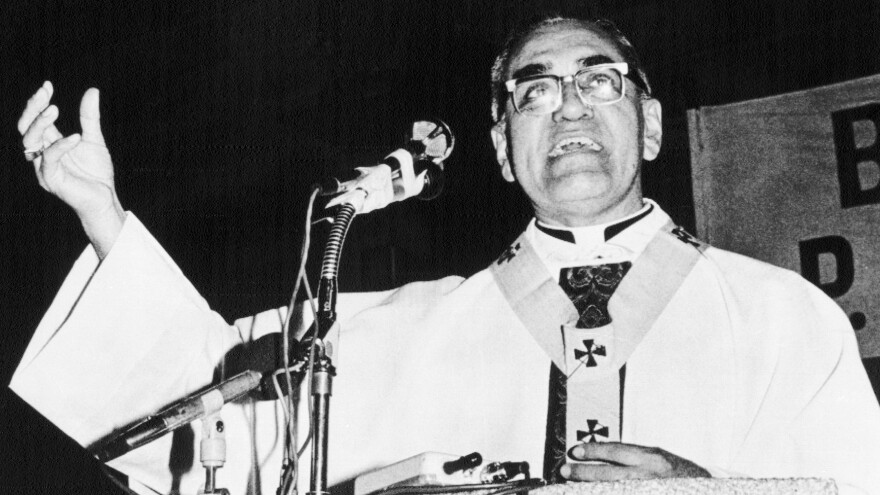 """""""At a time of so much confusion and anguish,"""" Romero said in a 1980 homily, """"I want to be a messenger of hope. In the midst of tragedy and bloodshed, there is hope."""""""