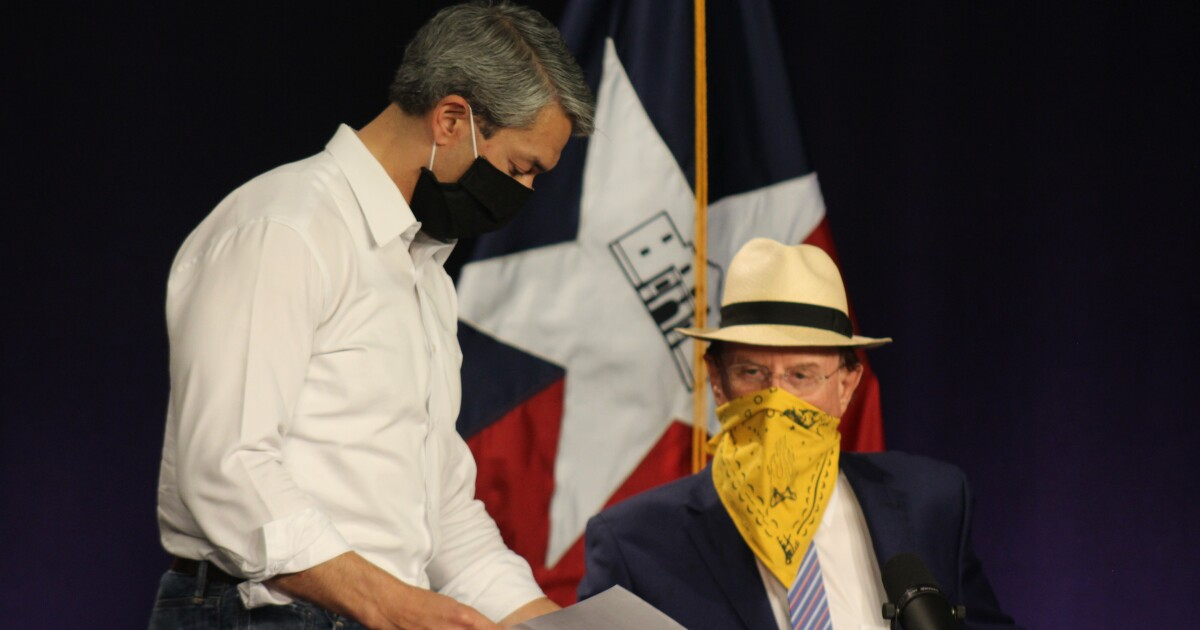 Bexar County Judge Wolff Prefers Bandanas Over Masks, Despite Lectures From Family And Friends