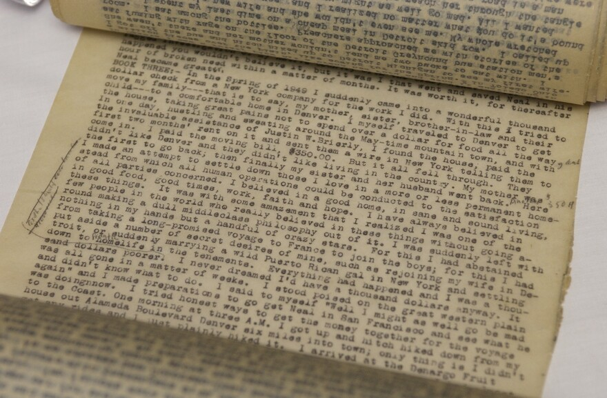 A stream of consciousness letter Neal Cassady wrote to Jack Kerouac helped inspire the style of <em>On The Road. T</em>he original manuscript of the first draft of Jack Kerouac's best-seller is shown above.