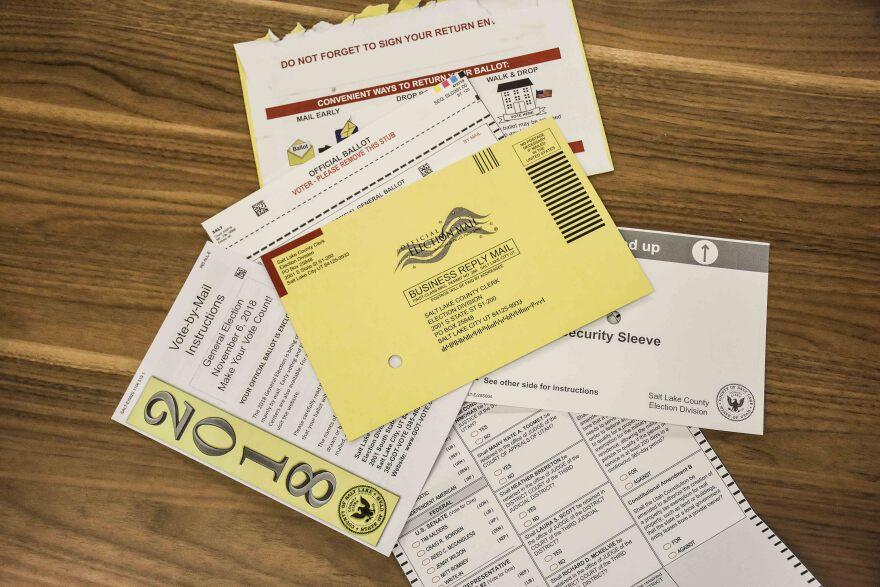 Photo of ballot info.