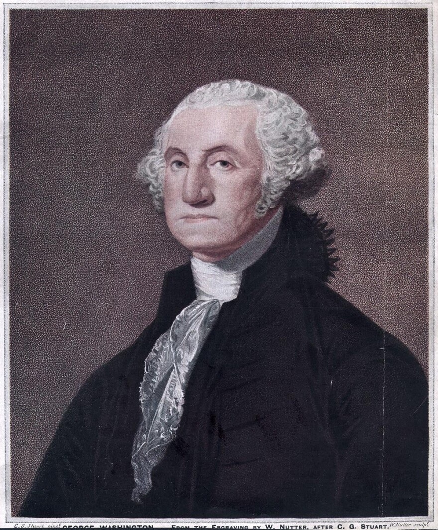 George Washington, the 1st President of the United States of America.  Original Publication: From the engraving by W Nutter, after CG Stuart.  (Hulton Archive/Getty Images)