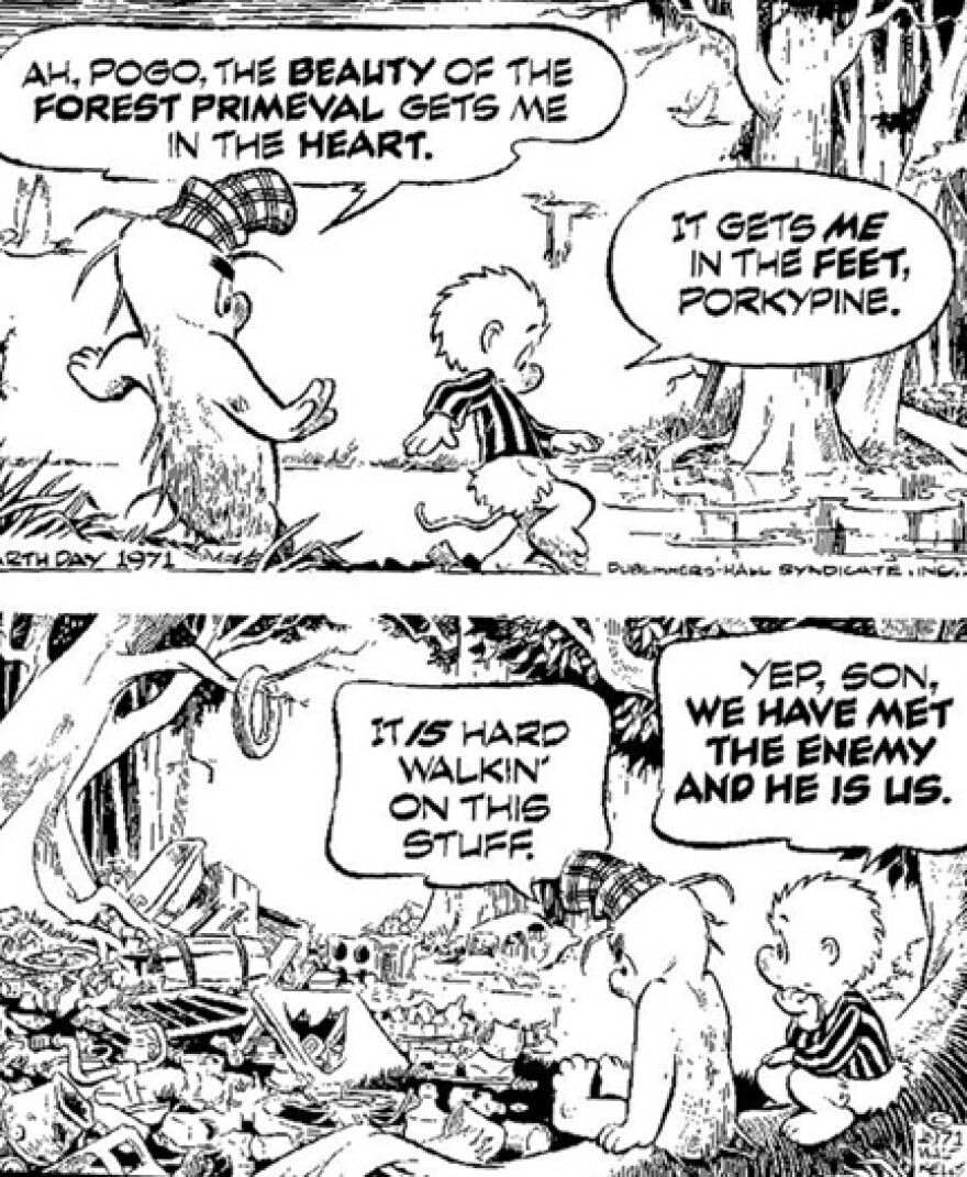 Walt Kelly's Pogo in a 1971 Earth Day poster