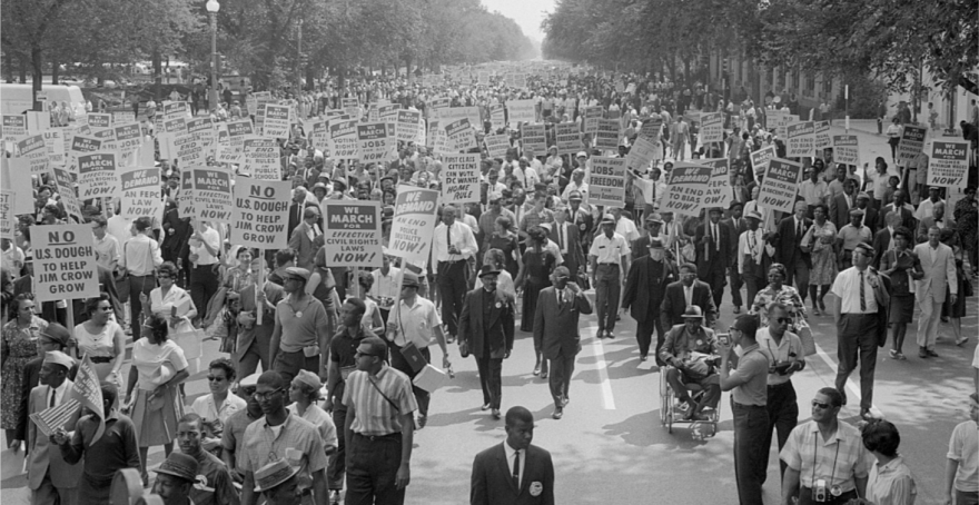 "The original 1963 March on Washington, where the Rev. Martin Luther King Jr. delivered his iconic ""I Have a Dream"" speech."