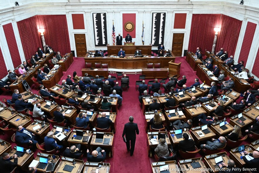The House of Delegates gathered for a one-day organizational session on Wednesday, January 13, 2021
