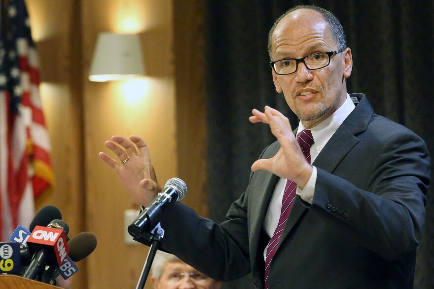 Labor Secretary Thomas Perez says proposed rules for financial advisers are meant to protect consumers.