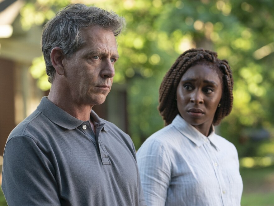 An HBO adaptation of Stephen King's novel <em>The Outsider</em> follows police detective Ralph Anderson (Ben Mendelsohn) and private eye Holly Gibney (Cynthia Erivo) as they investigate the murder of an 11-year-old boy.