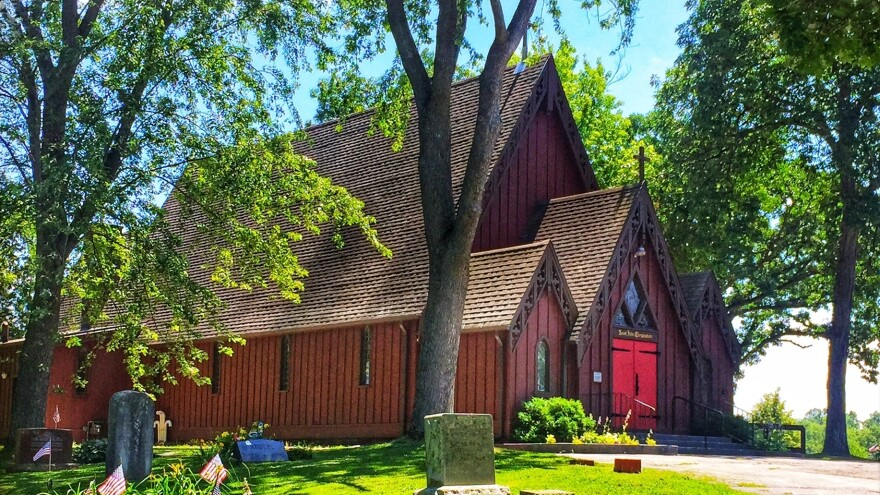 St. John Chrysostom Episcopal Church, in Delafield, Wis., is a classic example of carpenter Gothic architecture, made by hand.