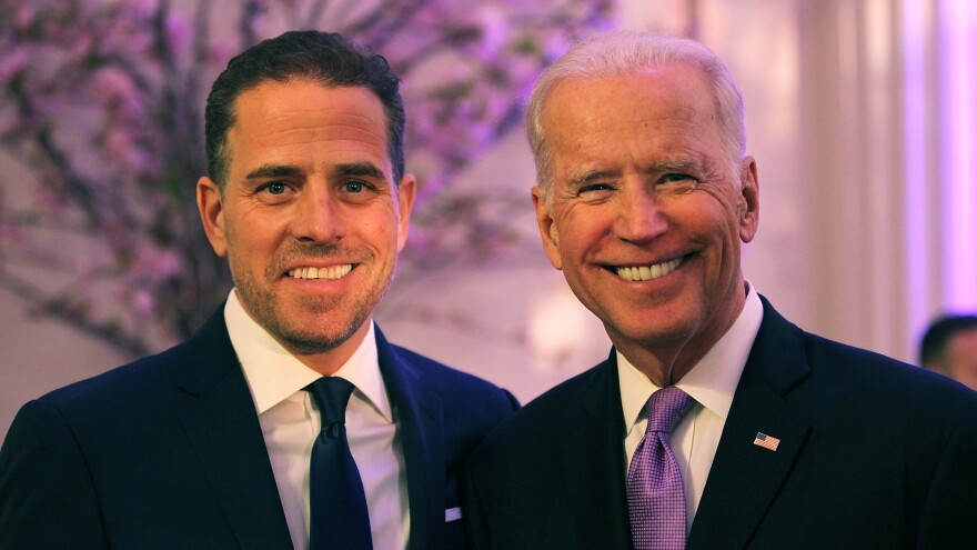 Hunter and then-Vice President Joe Biden attend a World Food Programme event in April 2016.