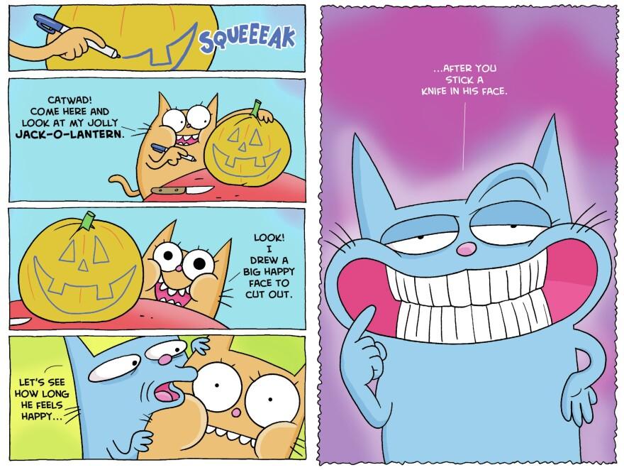 Catwad, master of the anti-joke.