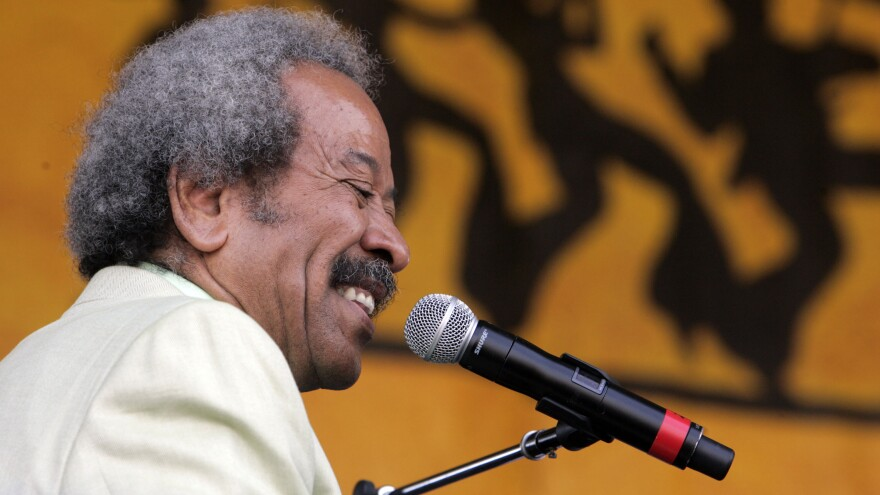 Allen Toussaint performs at the 2007 New Orleans Jazz and Heritage Festival.