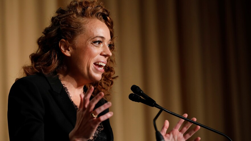 Comedian Michelle Wolf performs at the White House Correspondents' Association dinner in Washington on Saturday.