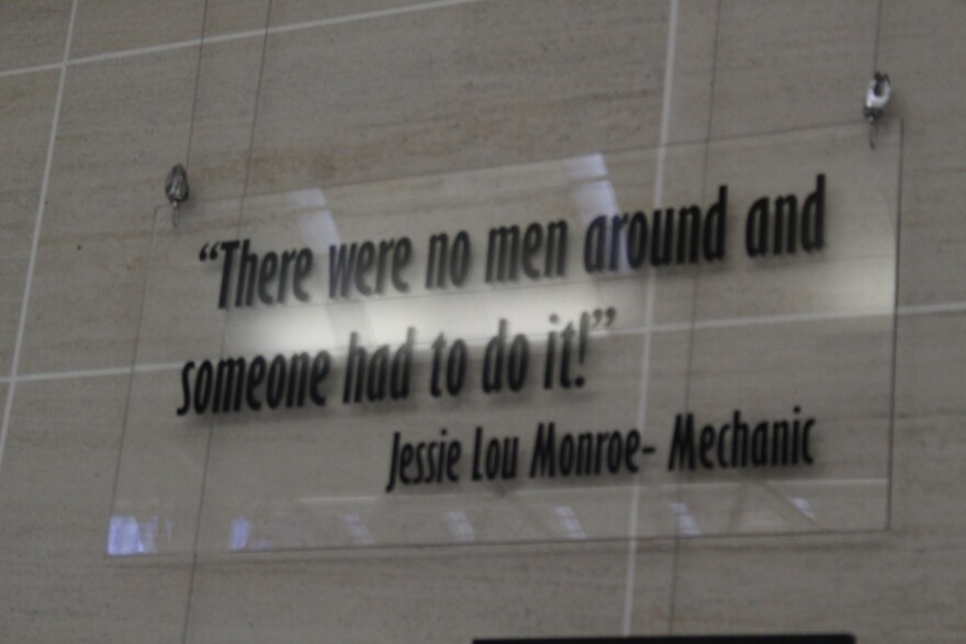 A traveling photography exhibit currently on display at the San Antonio International Airport includes this quote.
