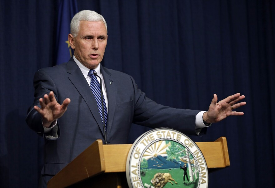 Though still opposed to legalizing needle exchanges throughout the state, Indiana Gov. Mike Pence told reporters Thursday he will temporarily permit the strategy in Scott County.