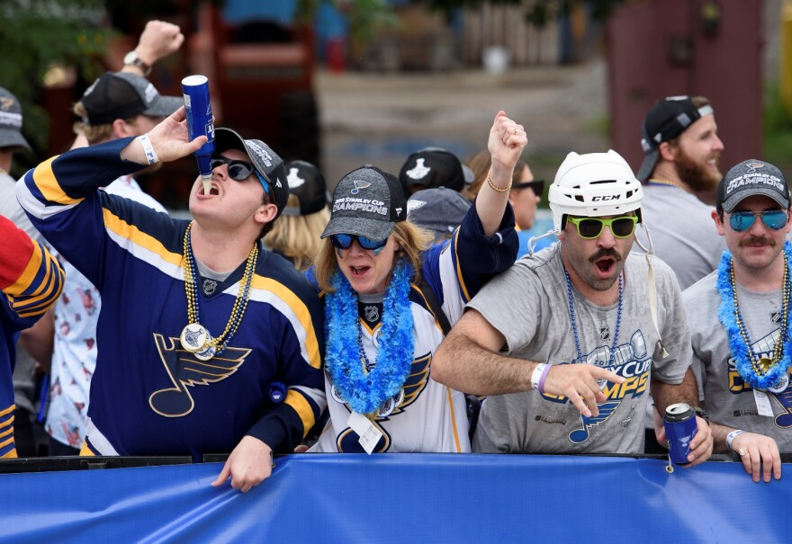 After waiting for more than five decades for the Blues to win the Stanley Cup, fans get rowdy at the victory parade. June 15, 2019