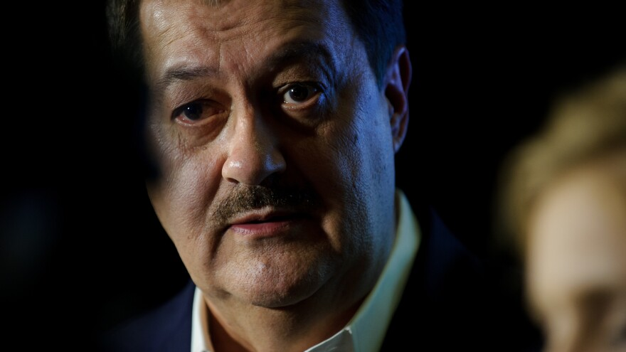 Republican Senate candidate Don Blankenship attends a party with supporters in Charleston, W.Va., after polls closed on Tuesday. Blankenship's controversial candidacy failed, a day after President Trump weighed in by tweet, urging West Virginia to vote for Blankenship's opponents. State Attorney General Patrick Morrisey is the GOP challenger to Democrat Joe Manchin.