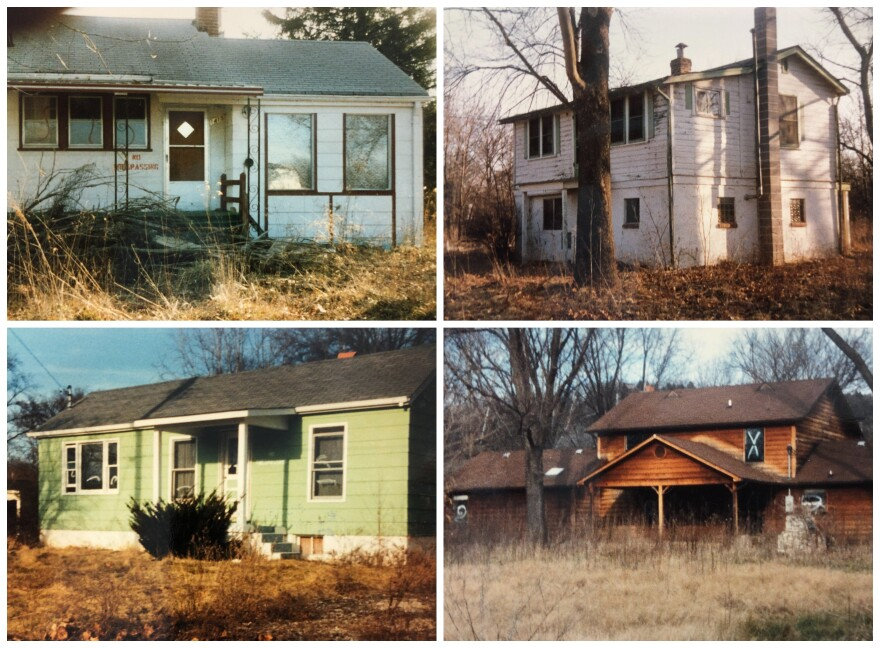 "Hundreds of Times Beach homes, like those in this collage of archival photos, were razed and dumped in a landfill, now known as the ""town mound"" at Route 66 State Park."