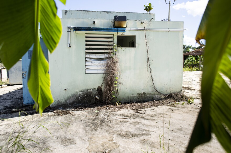 A long-abandoned water filtration plant in Camuy. Now that it appears money from HUD may arrive before some FEMA funds, Mayor Edwin García Feliciano's staff has been working feverishly to complete the list of projects he wants the island's government to approve for funding.