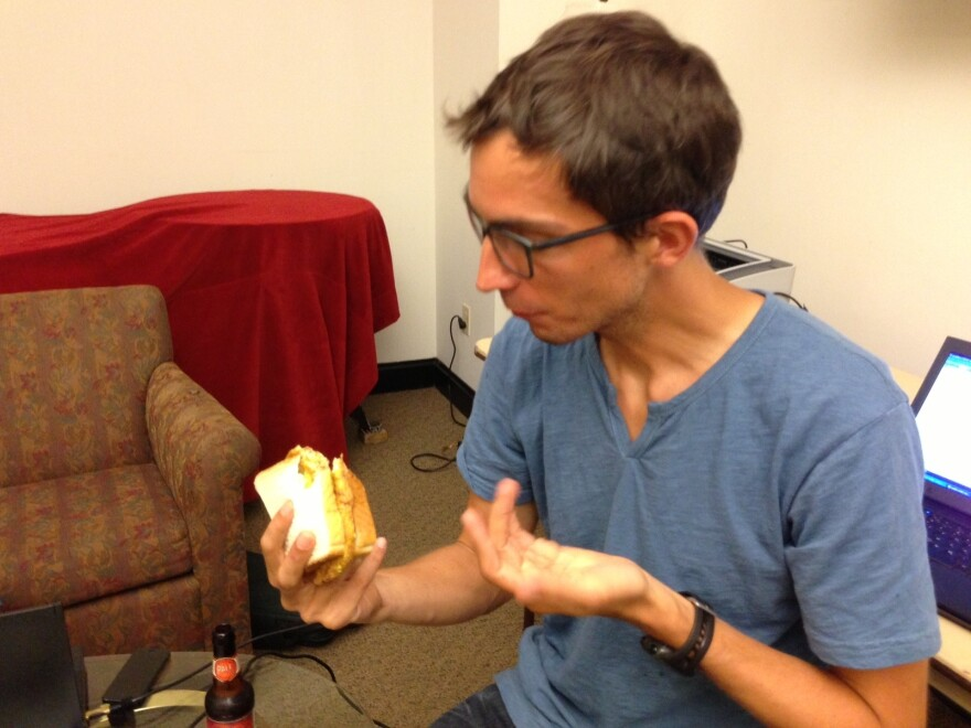 Ian attempts to process how something so disturbing could be so delicious.