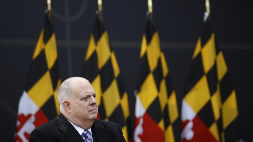 Maryland Gov. Larry Hogan is a well-liked Republican governor in a heavily Democratic state. Observers are looking for clues as to whether he'd challenge President Trump in 2020.