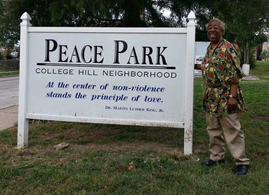 Mr. Woodard turned a vacant lot into Peace Park.