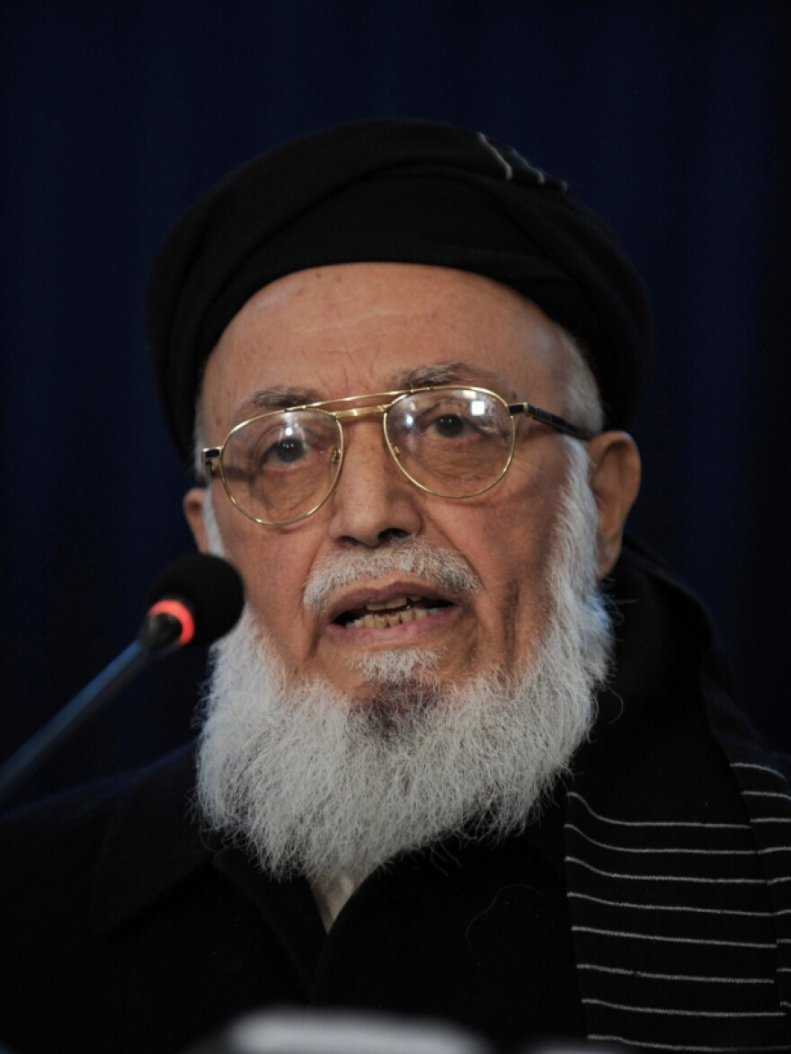 Ethnic Tajik warloard Rabbani (shown here in January) was considered a bitter enemy of the Taliban and other Pashtun factions. His selection to the High Peace Council a year ago surprised many people.