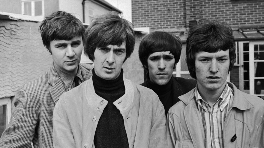 The Spencer Davis Group in 1966 (left to right), Pete York, Spencer Davis, Muff Winwood and Steve Winwood. Davis died Monday at the age of 81.