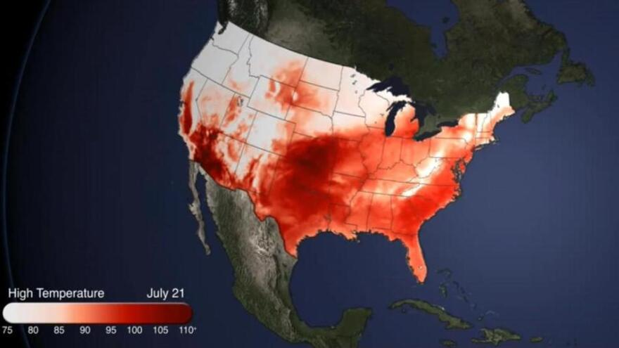 Red means hot.