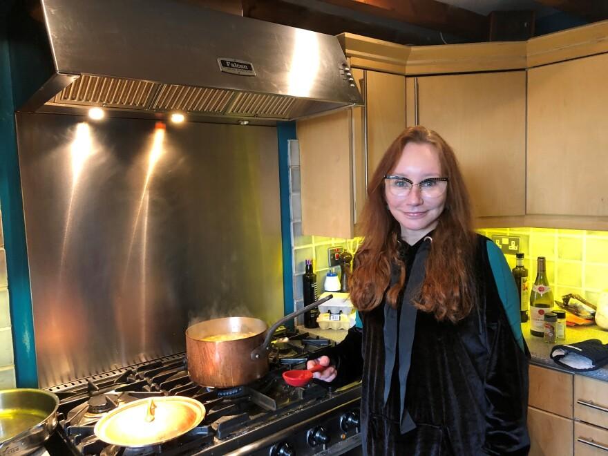 Tori Amos in her kitchen