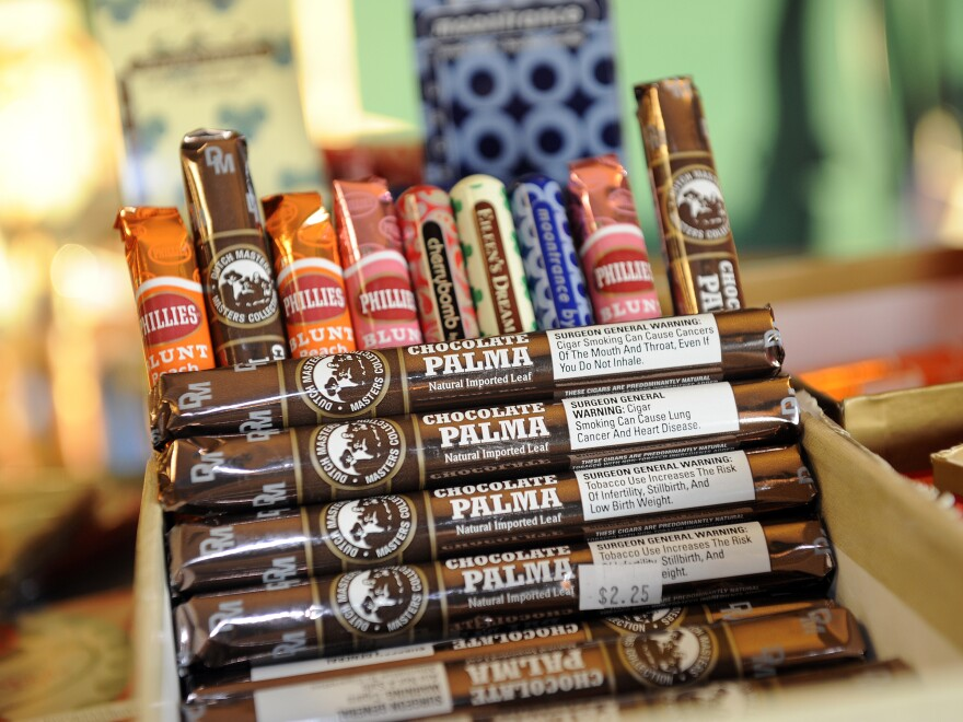 Candy-flavored cigars like these in a shop in Albany, N.Y.,  are the focus of efforts to restrict sales of sweet-flavored tobacco.
