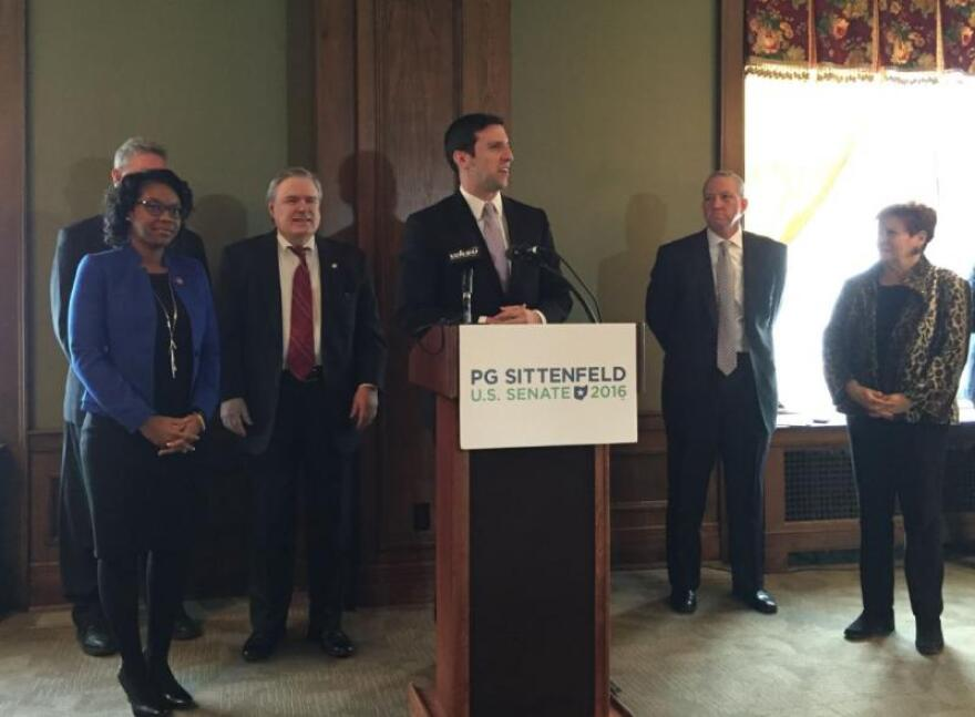 Sittenfeld with supporters in northeast Ohio