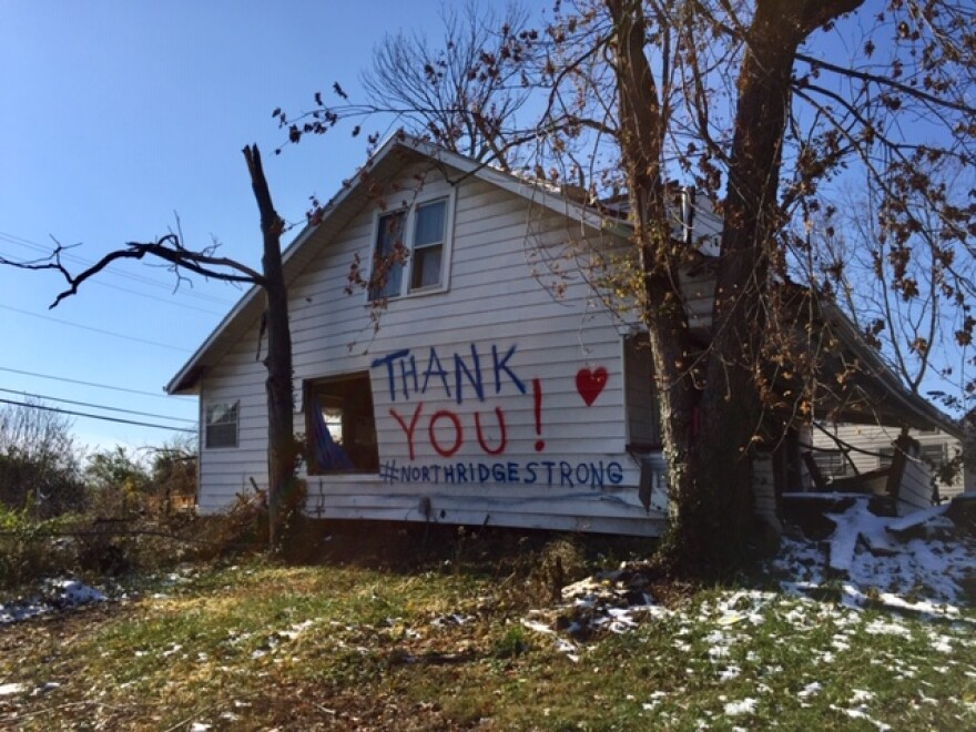 After the tornado, Timothy Walker, Beth Wentz and their kids relocated to a mobile home in Clark County.