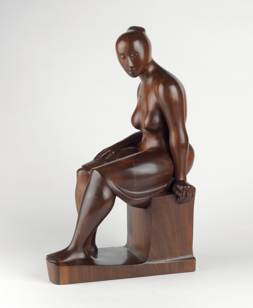 """St. Louis Art Museum acquired Elizabeth Catlett's """"Seated Woman."""" [10/11/19]"""