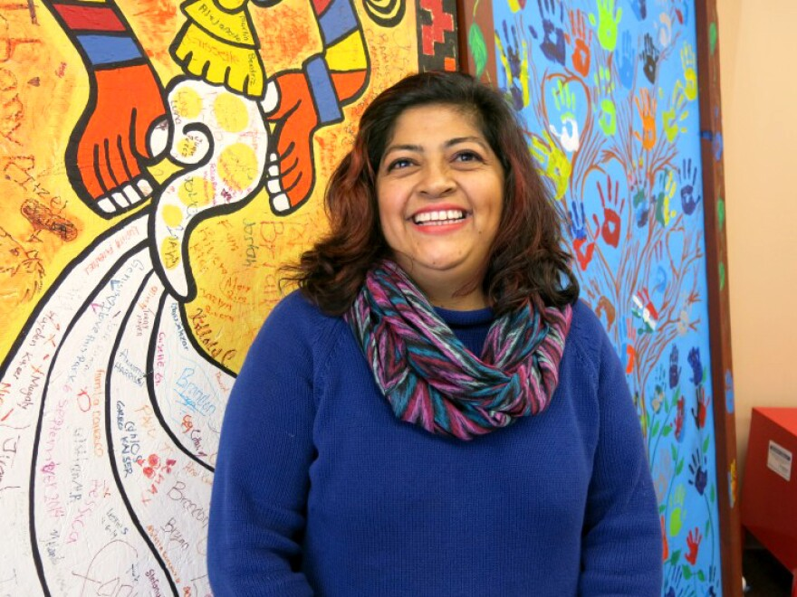 Gabriela Medina, a resident of Denver's Westwood neighborhood, works as a health educator in local schools and churches. She now spends some of her time teaching her neighbors how and why the tap water is safe.