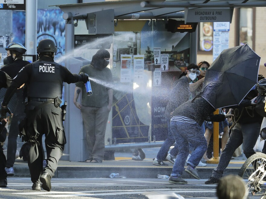 The decision on Monday was a partial victory for Black Lives Matter protesters but Judge Richard Jones found that in several instances, Seattle Police Department officers were justified in their use of less lethal weapons.