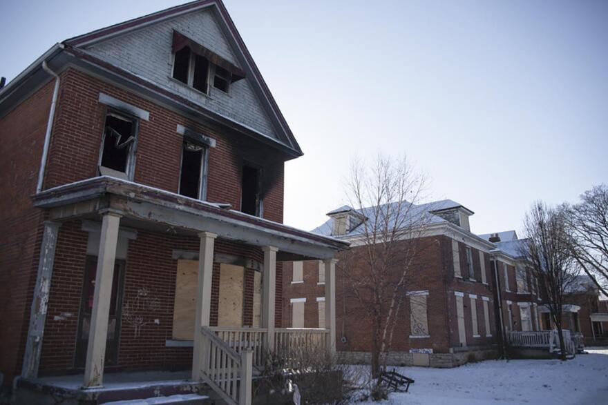 Abandoned homes in Columbus, Ohio, where men, women and children are known to sleep.