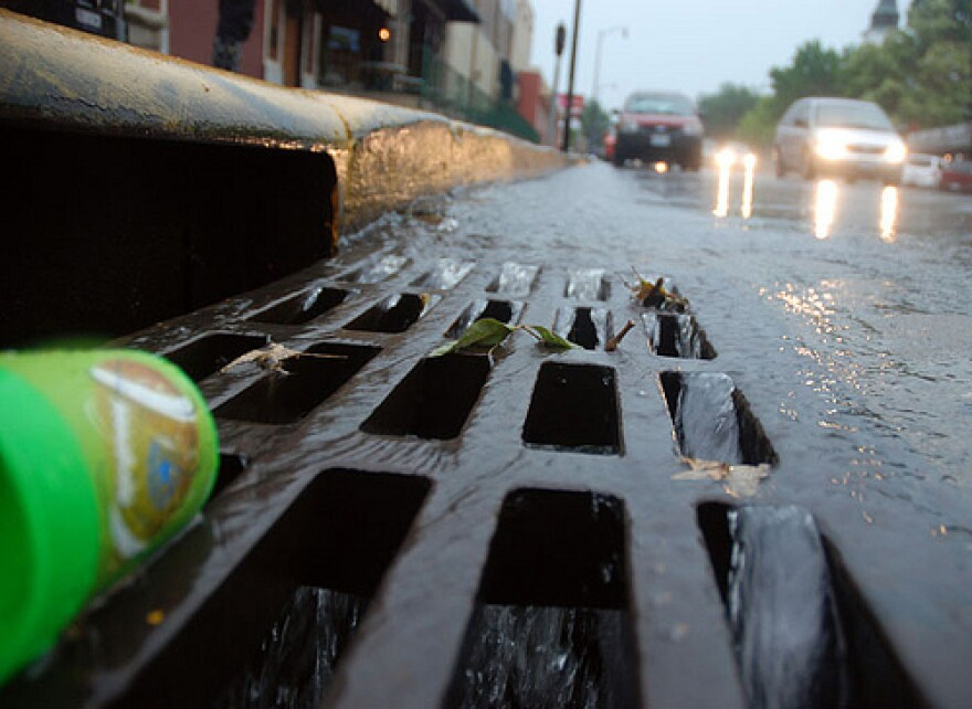 A stormwater drain.