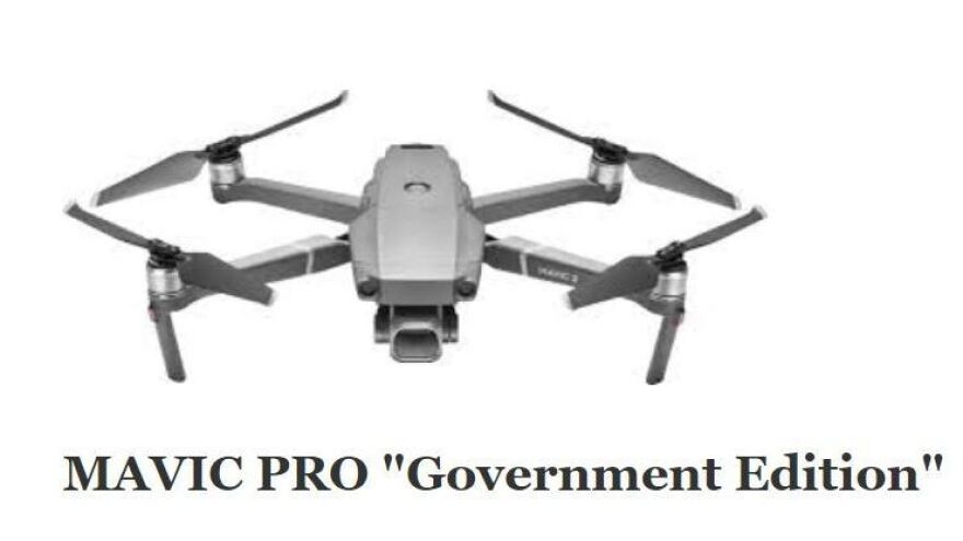 """The Interior Department is grounding its fleet of drones — including Chinese-made models such as this specialized """"government edition"""" Mavic Pro, made by DJI."""