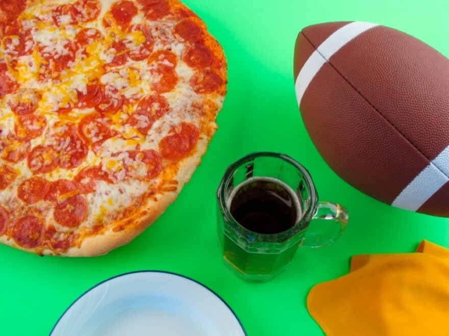 Football fans ate fattier meals the day after their teams lost a game, a study found.