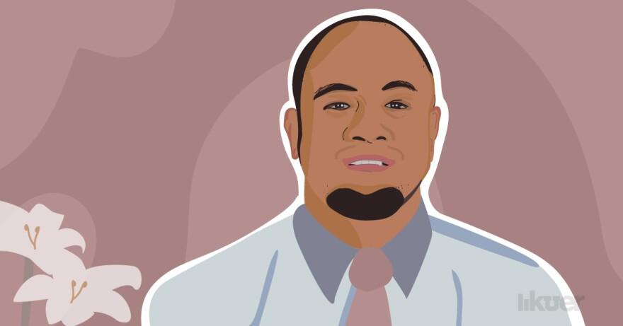 "An illustration of Sione ""Ray"" Tuineau."