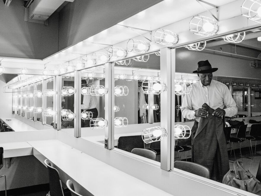 Donald Holmes is backstage at the Tennessee Performing Arts Center. He's on the board of directors for the Nashville Opera and is an occasional extra in its performances.