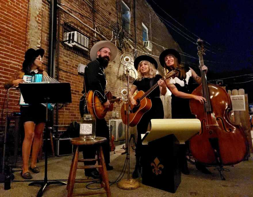 Ryan Koenig and the Goldenrods performed Tuesday at the latest Western Wear Night at the Whiskey Ring on Cherokee Street.