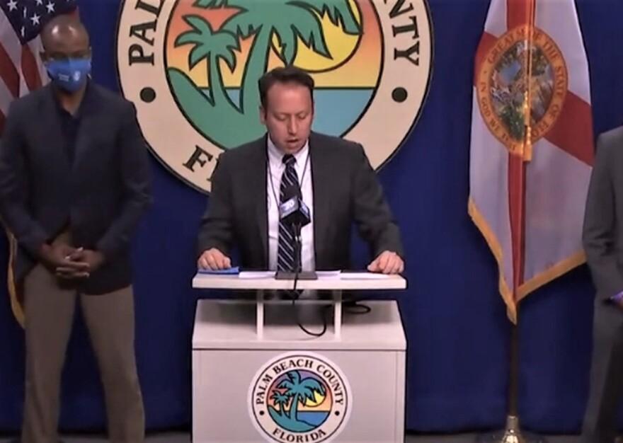 Mayor Kerner speaking at news conference