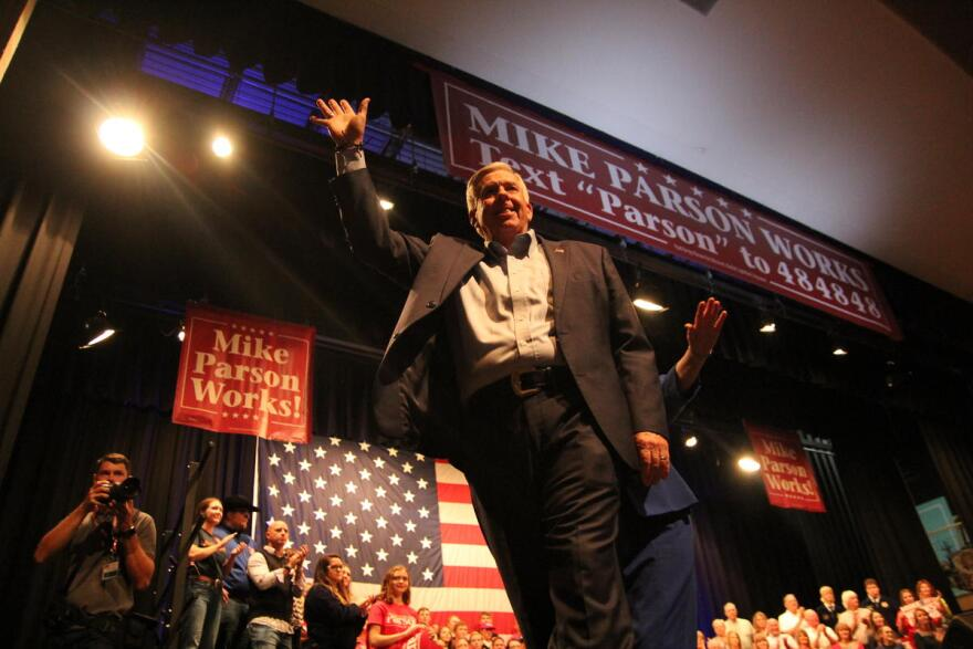 Governor Parson announced his plans to seek a second term as governor from his hometown of Bolivar, Missouri.