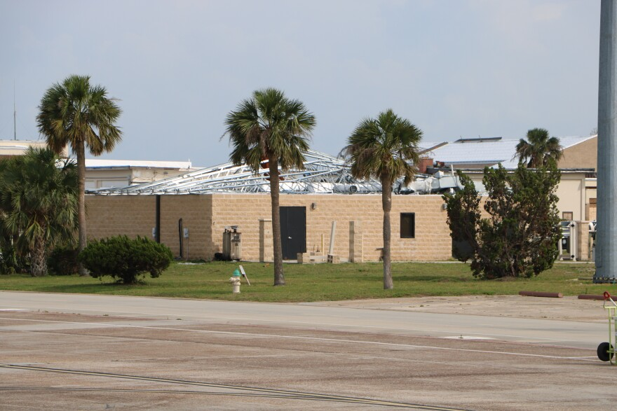 Damaged building at Tyndall Air Force Base in Panama City