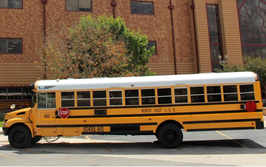 North East ISD school bus