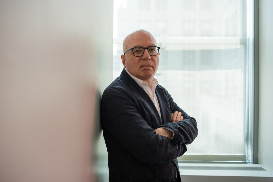 Author Michael Wolff at NPR offices on Sunday. Wolff's latest book claims special counsel Robert Mueller's office drew up an indictment of President Trump, a claim that's denied by the special counsel's office.