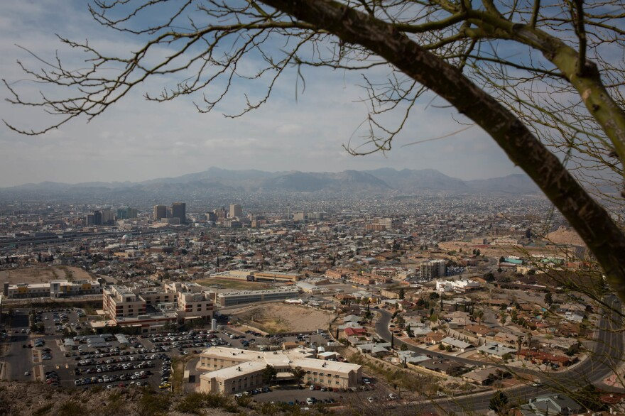U.S. immigration officials are releasing up to 700 people a day into El Paso, Texas. Ciudad Juárez, in Mexico, can be seen in the distance.