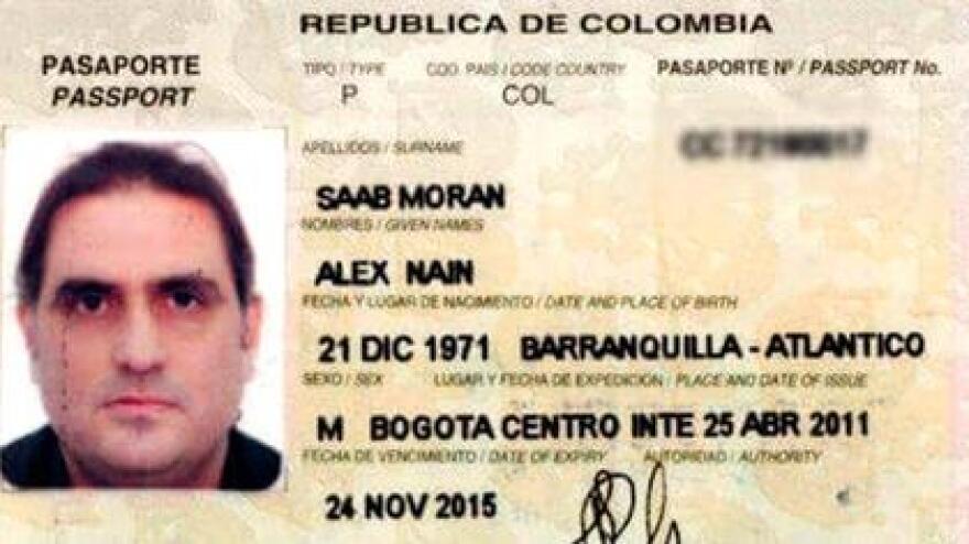 Alex Saab passport